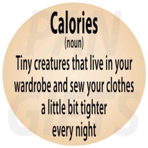 Novelty Fridge Magnet Calories
