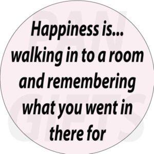 Novelty Fridge Magnet Happiness