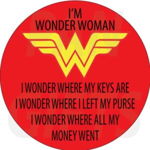 Novelty Fridge Magnet Wonder Woman