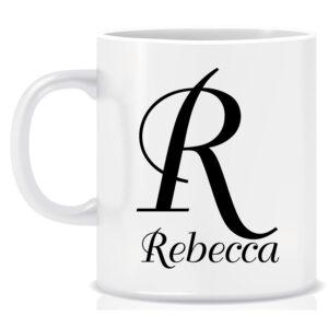 Personalised Name and Initial Mug DuchScript Font