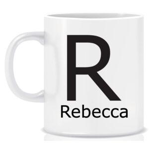 Personalised Name and Initial Mug Regular Font