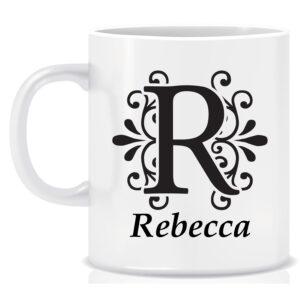Personalised Name and Initial Mug Vintage design