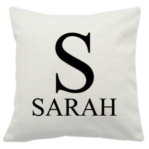 Personalised Cushion Cover Initial and Name