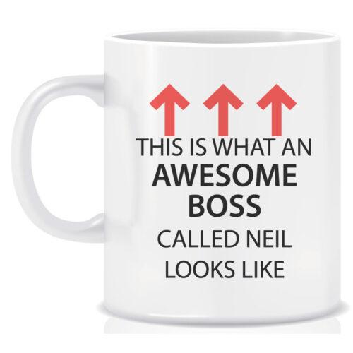 Novelty Workplace Mug Awesome Boss