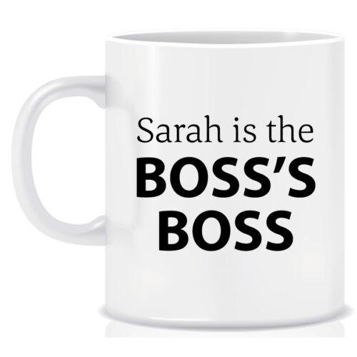 Personalised Novelty Workplace Mug The Boss's Boss